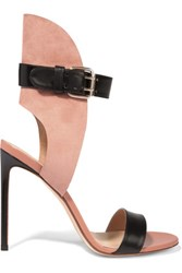 Francesco Russo Leather And Suede Sandals Antique Rose