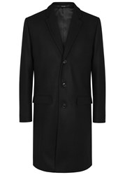 Tiger Of Sweden Dempsey Black Wool Blend Coat