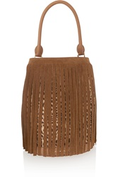 Burberry Fringed Suede And Leopard Print Calf Hair Tote