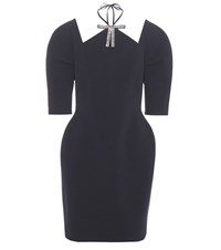 Marni Embellished Cut Out Dress Blue