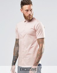 Only And Sons Skinny Smart Short Sleeve Shirt Pink