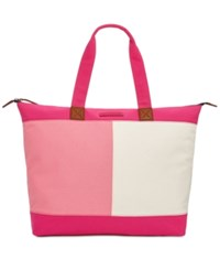 Tommy Hilfiger Flag Colorblock Top Zip Tote Fuchsia
