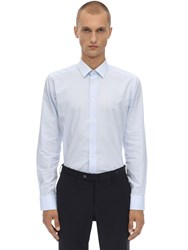 Eton Cotton Poplin Shirt Light Blue