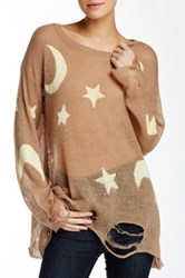 Wildfox Couture Night Owl Sweater Brown