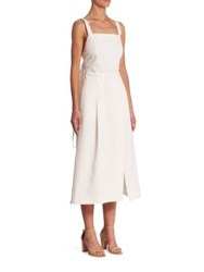 Adam By Adam Lippes Open Back A Line Dress White