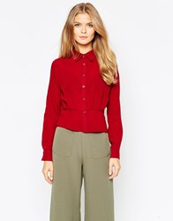 Wal G Long Sleeve Shirt Berry