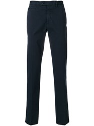 Salvatore Ferragamo Cotton Blend Twill Chinos Blue