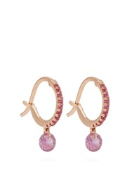Raphaele Canot Set Free Sapphire And Rose Gold Earrings Pink