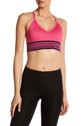 Columbia Long Banded Adjustable Cami Sports Bra Pink
