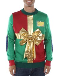 Tipsy Elves Christmas Present Sweater Green
