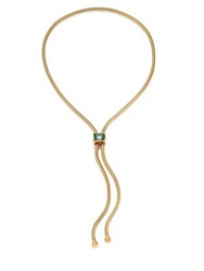 House Of Lavande Kemala Crystal Snake Chain Lariat Necklace Gold