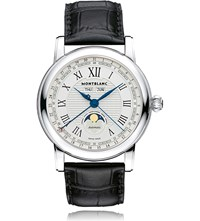 Montblanc 108736 Star Stainless Steel And Leather Moonphase Watch