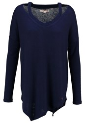 Khujo Bozna Jumper Dress Blue Melange Dark Blue