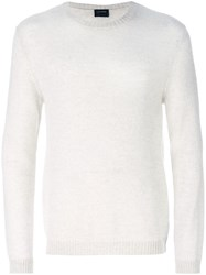 Jil Sander Rounded Neck Sweater Nude And Neutrals