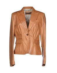 12345678 Suits And Jackets Blazers Women Tan