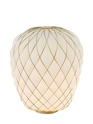 Fontana Arte Large Pinecone Table Lamp White Gold