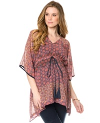 A Pea In The Pod Maternity V Neck Printed Tunic Mosaic Print