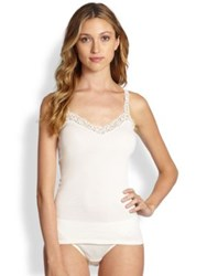 Hanro Delicate Lace And Cotton Camisole White