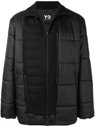 Y 3 Patch Panelled Down Jacket Black