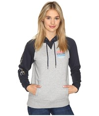 Volcom Commin Back Hoodie Heather Grey Women's Sweatshirt Gray