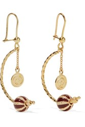 Carolina Bucci Carnevale 18 Karat Gold And Enamel Earrings One Size