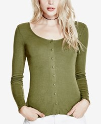 Guess Snap Front Top Winter Moss