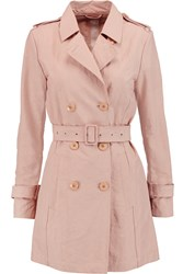 Add Shell Trench Coat Pink