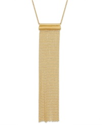 Studio Silver Tassel Pendant Necklace In 18K Gold Over Sterling Silver Yellow Gold