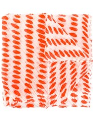 Issey Miyake Pleats Please By Printed Pleated Scarf White