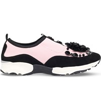 Carvela Lullaby Neoprene Trainers Pale Pink