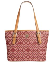 Giani Bernini Saffiano Graphic Tote Only At Macy's Wine Multi