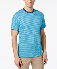Club Room Men's Gregory Striped T Shirt Only At Macy's Clear Skies