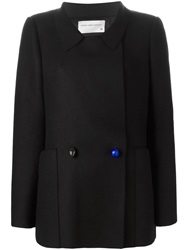 Maison Rabih Kayrouz Double Breasted Coat Black