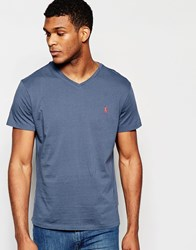 Polo Ralph Lauren T Shirt With Logo In Blue V Neck Navy