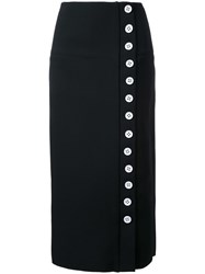 Christopher Esber Button Down Skirt Women Polyester Spandex Elastane 10 Black