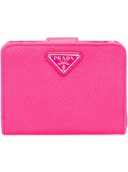 Prada Small Saffiano Leather Wallet Pink