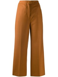 Pt01 High Rise Wide Leg Cropped Trousers 60