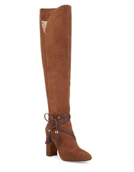 Louise Et Cie Tallen Braided Embellished Suede Boots Bourbon