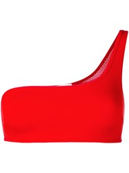 Stella Mccartney One Shoulder Bra Top Women Polyamide Polyester Spandex Elastane S Red