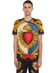 Dolce And Gabbana Printed Cotton Jersey T Shirt Array 0X577f418