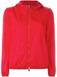Moncler Hooded Lightweight Jacket Red