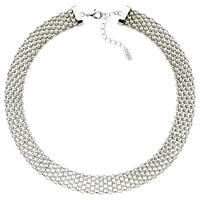 Finesse Chunky Mesh Collar Necklace Silver