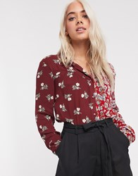 Pieces Shirt In Mixed Ditsy Print Multi