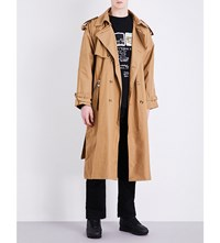 Blood Brother Cotton Canvas Trench Coat Camel
