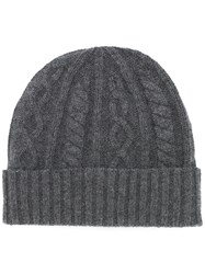 Brunello Cucinelli Chunky Knit Beanie Grey