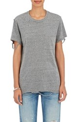Nsf Women's Lucy Distressed T Shirt Light Grey