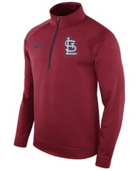 Nike Men's St. Louis Cardinals Therma Half Zip Pullover Red