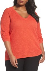 Eileen Fisher Plus Size Women's Organic Linen And Cotton Top Geranium