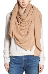 Halogen Cashmere Scarf Tan Indochine Heather