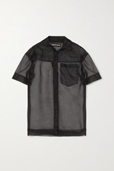 House Of Holland Embroidered Organza Shirt Black